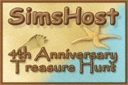 Return to the SimsHost 4th Anniversary Treasure Hunt starting page.